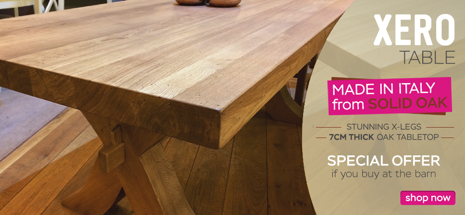 Xero solid oak table - special offer at the barn