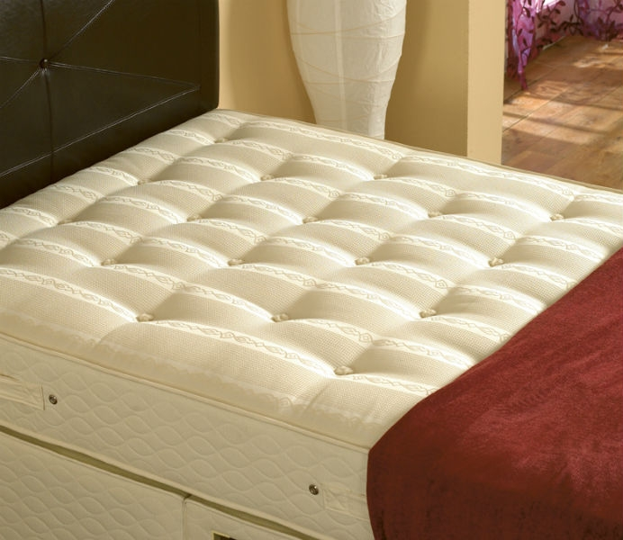Executive 1000 4 39 6 double mattress 2 drawer divan bed for Double divan bed with four drawers