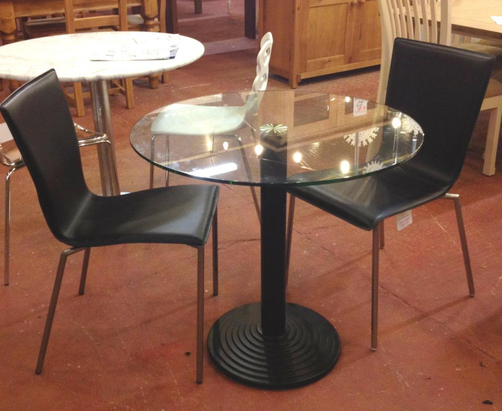 Montpellier 80cm Round Table Clear Glass Top