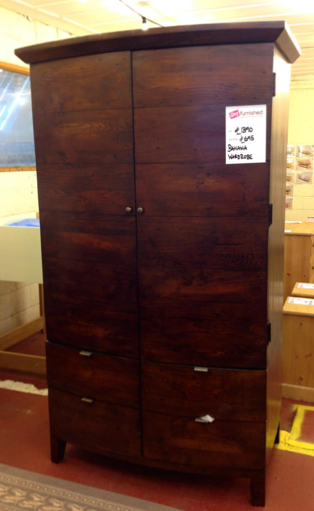 bahama double wardrobe clearance. Black Bedroom Furniture Sets. Home Design Ideas
