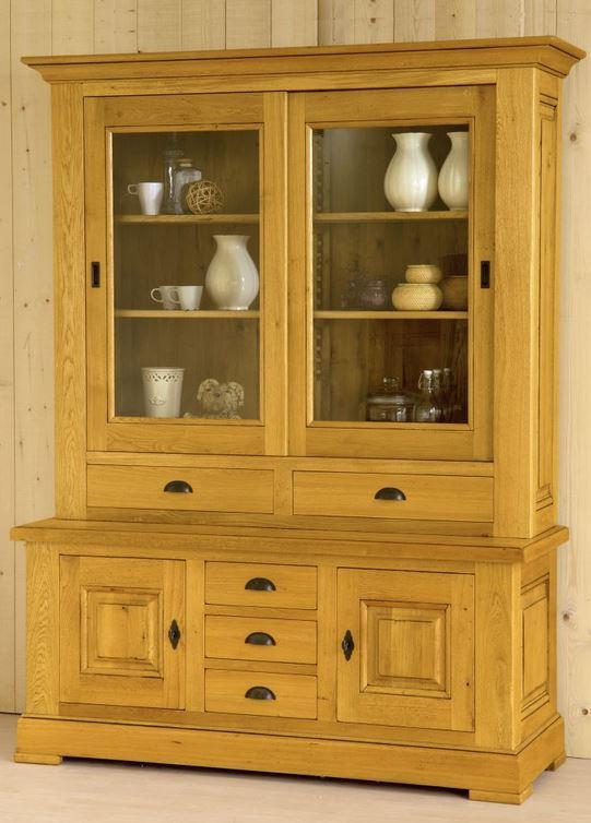 Carnac 2 Door Oak Dresser With Sliding Doors