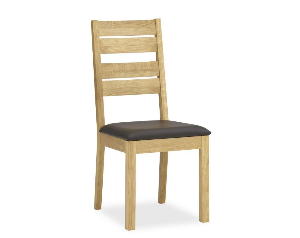 Utah Oak Dining Chairs ~ Perigord oak slatted dining chair