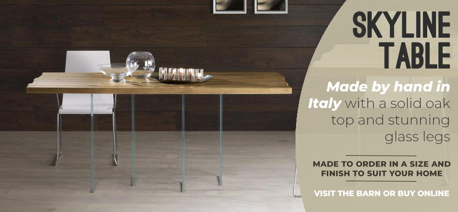 Skyline table - made from solid oak in Italy. Order yours now from Get Furnished.