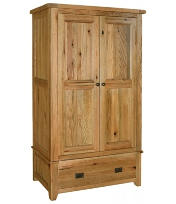 Chartres Double Wardrobe with Drawer