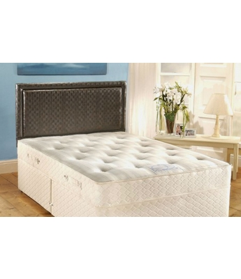 Firm Support 1100 - 4'6 Double Mattress & 2 Drawer Divan Bed