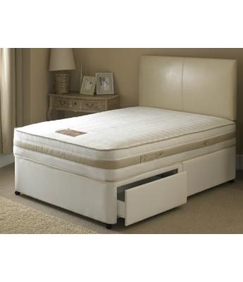 Ava Memory Pocket 1000 - 4'6 Double Mattress & 2 Drawer Divan Bed