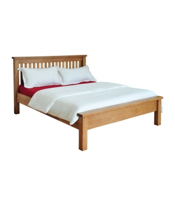 Dakota Oak 5ft Low Foot End Bed