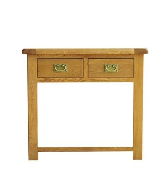 Dakota 2 Drawer Oak Console Table