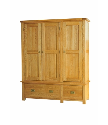 Dakota Oak Triple Wardrobe