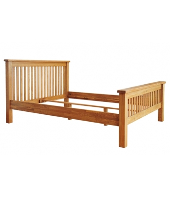 Dakota Oak 4ft 6in High Foot End Bed