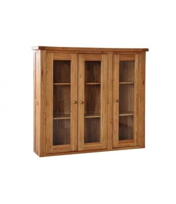 Dakota 4ft 6in Glass Door Oak Dresser Top
