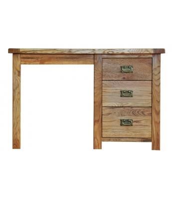 Dakota Single Pedestal Oak Dressing Table