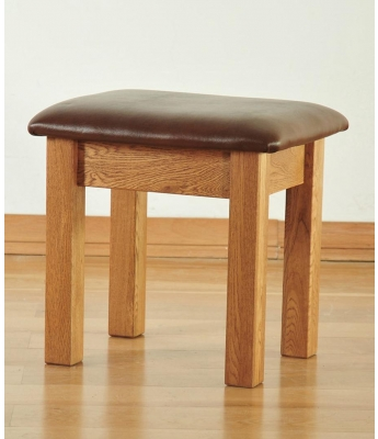 Dakota Oak Single Dressing Table Stool