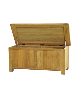 Dakota Large Oak Blanket Box