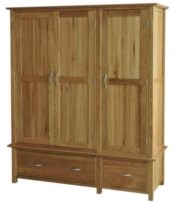 Utah Oak Triple Wardrobe