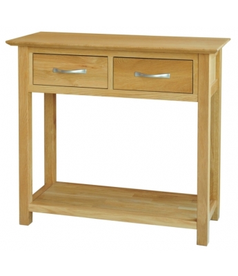 Utah 2 Drawer Oak Console Table