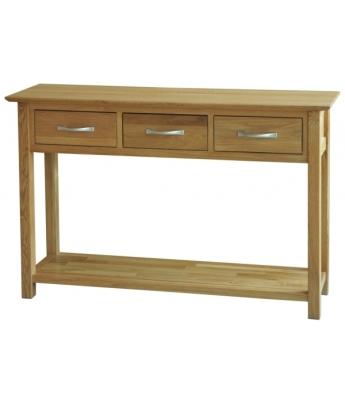 Utah 3 Drawer Oak Console Table