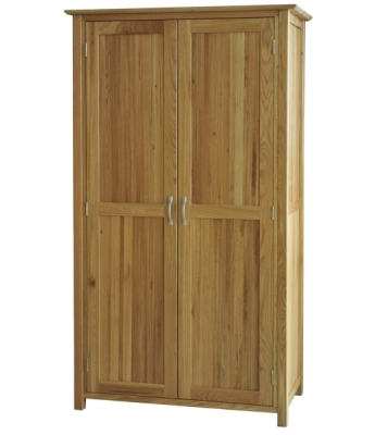 Utah Full Length Oak Wardrobe