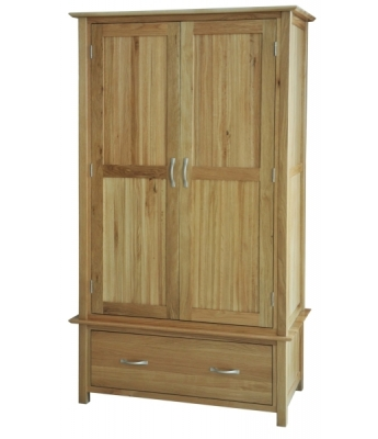 Utah 1 Drawer Oak Wardrobe