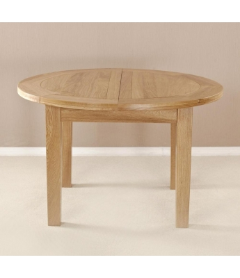 Fortune Woods Milano 4ft 1in Round Flip Top Extending Table