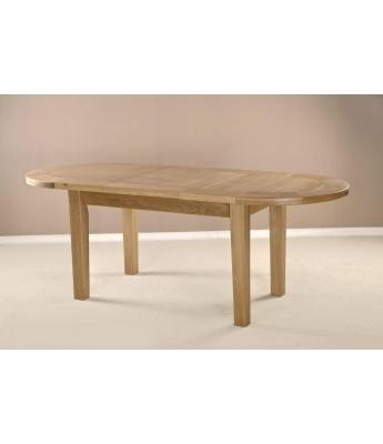 Utah Large Oak D-End Extendable Table