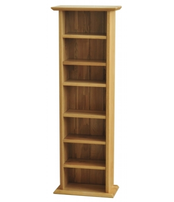 Utah Oak CD Rack
