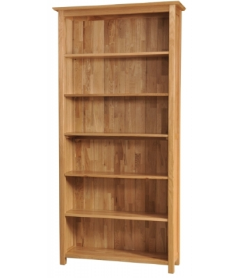 Utah 6ft Wide Oak Bookcase