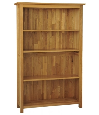 Utah 5ft Wide Oak Bookcase