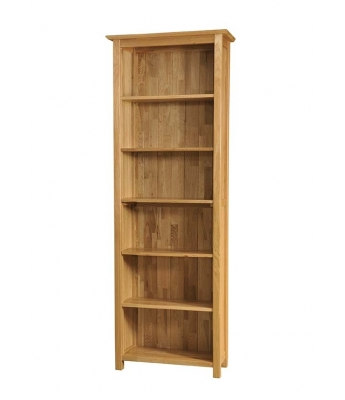Utah 6ft Narrow Oak Bookcase