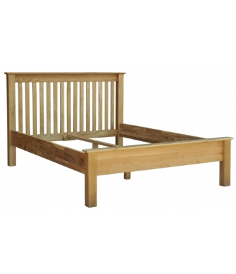 Utah Oak 4ft 6in Low Foot End Bed