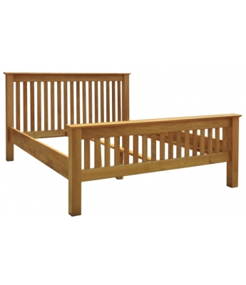 Utah Oak 3ft High Foot End Bed