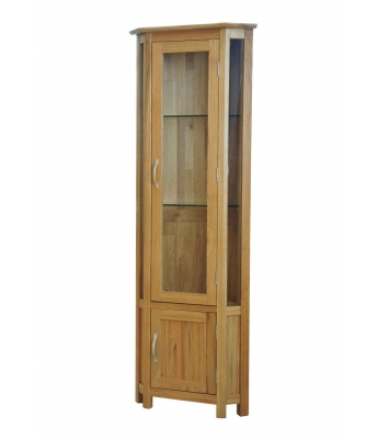 Utah Oak Corner Display Cabinet