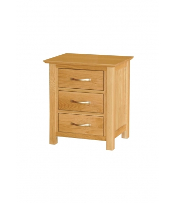 Utah Small 3 Drawer Oak Bedside