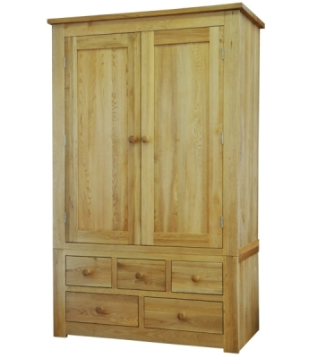 Sierra  Combi Wardrobe with 3 Over 2 Drawers
