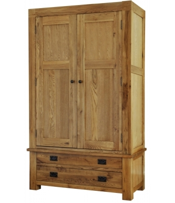 Fortune Woods Boston 2 Drawer Oak Wardrobe