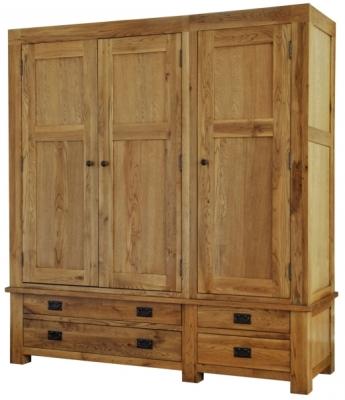 Fortune Woods Boston Oak Triple Wardrobe