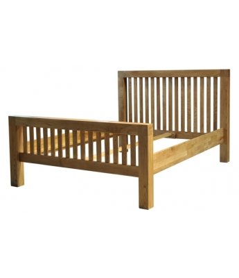 Fortune Woods Boston 4ft 6in Oak Bed