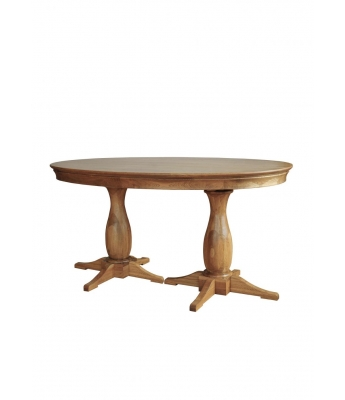 Loire Oak Oval Table 1.2m X 1.6m