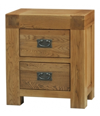 Fortune Woods Boston 2 Drawer Oak Bedside