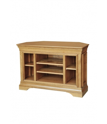 Loire Oak Corner Video Cabinet