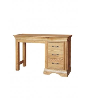 Loire Single Pedestal Oak Dressing Table