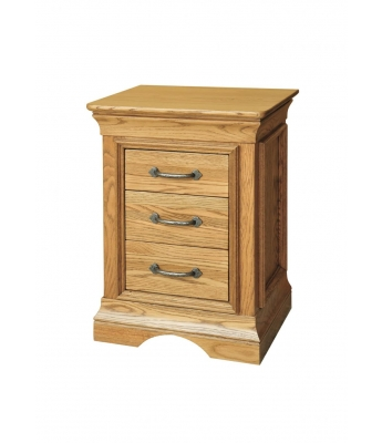 Loire 3 Drawer Oak Bedside