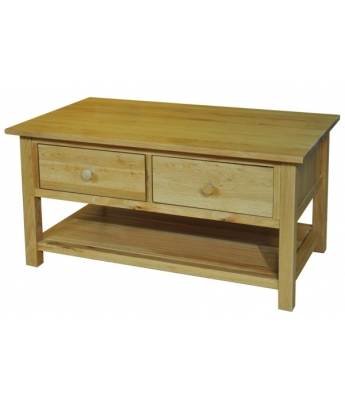 Fortune Woods Windsor Oak 2 Drawer Coffee Table