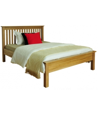 Fortune Woods Windsor Oak 4ft 6in Bed with Slats