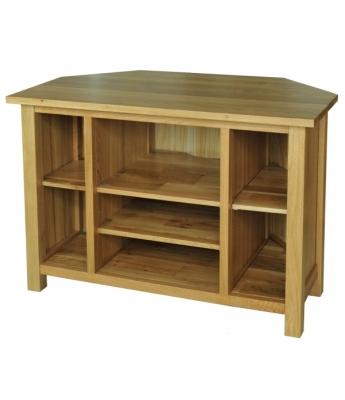 Fortune Woods Windsor Oak Corner Video Cabinet