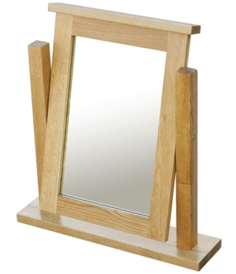 Fortune Woods Windsor Oak Dressing Table Mirror