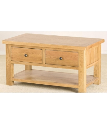 Salinas 2 Drawer Oak Coffee Table
