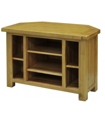 Salinas Oak Corner Video Cabinet