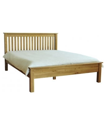 Salinas 4ft 6in Oak Bed with Slats