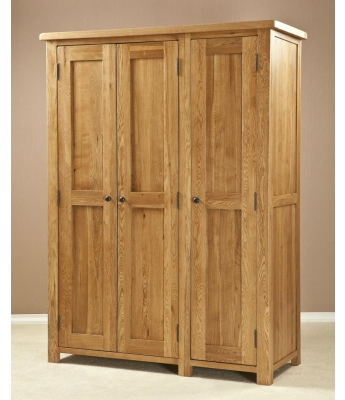 Salinas Triple All Hanging Oak Wardrobe